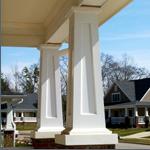Square tapered porch column
