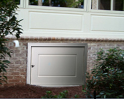 Crawl space doors curb appeal products for Exterior basement access doors