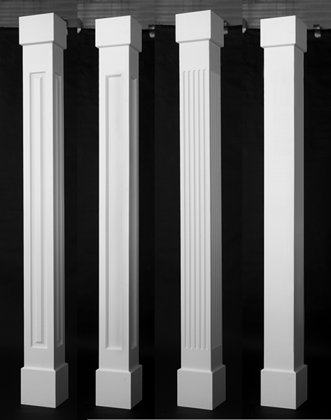 Porch column wraps curb appeal products for Wrap around porch columns